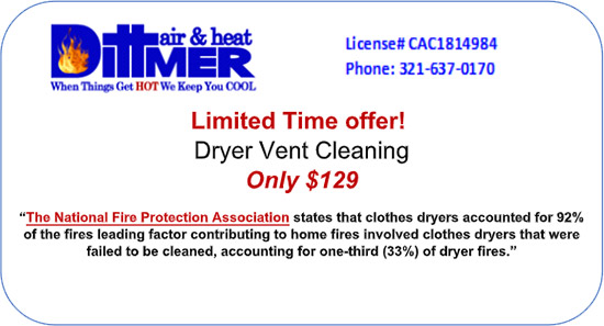 Limited Offer Dryer Vent Cleaning